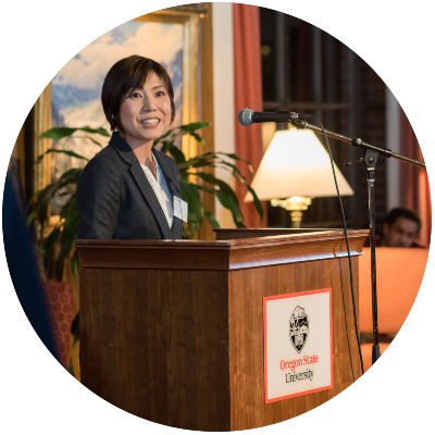 international scholar speaking at president's reception 2017