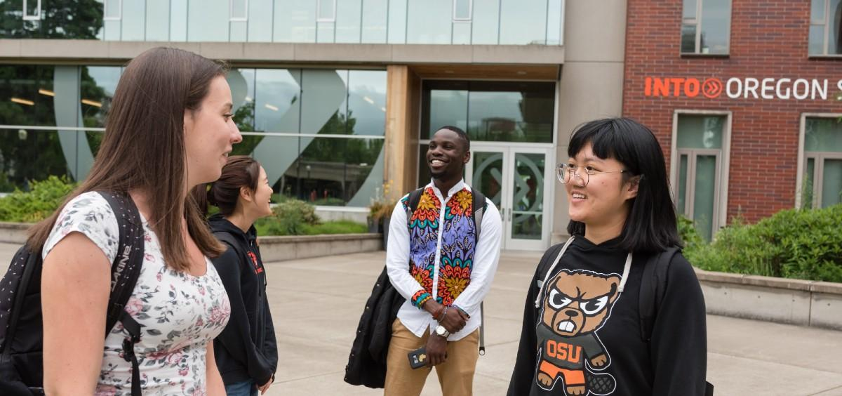 international students standing in front of the ILLC